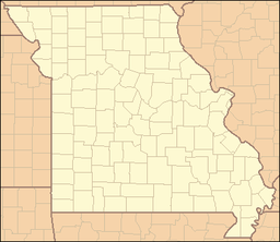 Location of Knob Noster State Park in Missouri