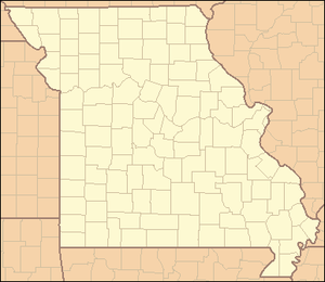 Locator Map of Missouri, United States