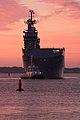 Mistral Vladivostok appareillant pour les premiers essais en mer russe Benard Grua.jpg