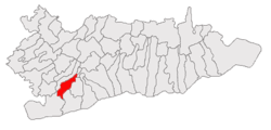 Location of Mitreni, Călăraşi