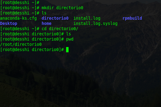 mkdir command used to make a new directory