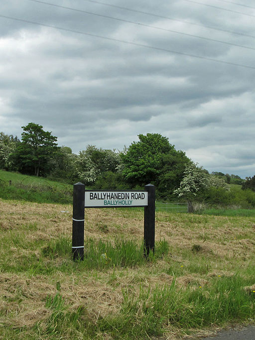 Modern Streetname sign with Townland Name (geograph 4700760)