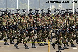 Bangladesh Army soldiers with BD-08 assault rifles. Modular Infantry Bangladesh Army (23114647143).jpg