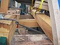 Molen De Koe Ermelo windpeluw, steunder en lange spruit.jpg