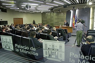 Spokesperson of the Government of Spain - Moncloa Palace's Press Room