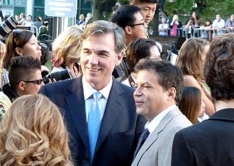 Billy Beane - Beane (left) at the 2011 Toronto International Film Festival