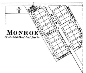 Monroe, Tippecanoe County, Indiana - Monroe in 1878.