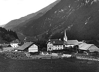 Haut-Intyamon - Montbovon village in 1890