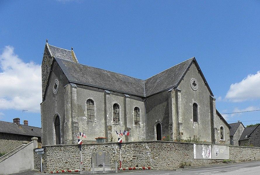 Église Saint-Pierre et Saint-Paul de Poulay, commune de Montreuil-Poulay (53).