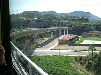 Montserrat Rack Railway - The Pont del Centenari bridge.