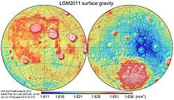 Moon gravity acceleration map LGM2011.jpg