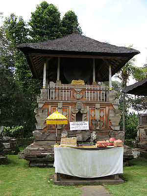 Bale kulkul - The bale kulkul of Pura Penataran Sasih in Pejeng village, Bali, contains the world's largest bronze drum cast in a single piece.