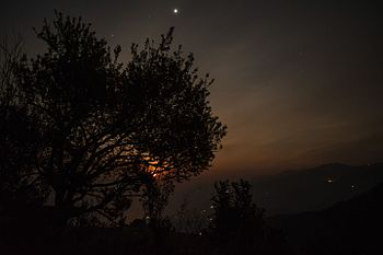 Moonrise in himalaya(binsar wild life sanctury).jpg