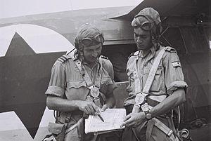 Mordechai Hod - Mordechai Hod (on the left)