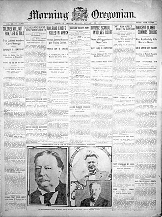 The Oregonian - The Morning Oregonian, January 22, 1912.