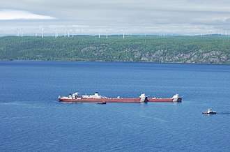 Whitefish Bay - Image: Motor vessel Blough aground in Lake Superior (Image 1 of 5) 160602 G ZZ999 001
