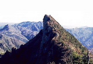 Mount Ishizuchi mountain in Shikoku, Japan