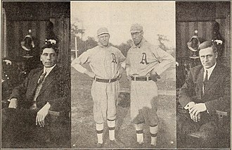 Chief Bender - The four stars of the world champion Philadelphia Athletics — Bender, Cy Morgan, Jack Coombs and Rube Oldring — were featured in the Thanhouser Company film, The Baseball Bug (1911)
