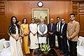 Ms. Manushi Chhillar, Miss World 2017 calls on the Prime Minister, Shri Narendra Modi, in New Delhi on November 30, 2017.jpg