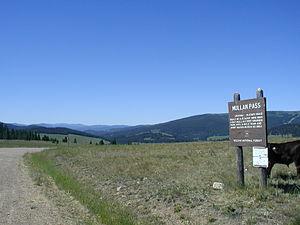 Mullan Road - Mullan Pass near Helena, Montana