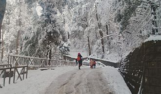 Murree - Murree in winter.
