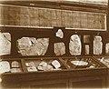 Musée égyptien - Intérieur d'une salle - esquisses de dessins sur ostraca - Le Caire - Médiathèque de l'architecture et du patrimoine - AP62T163574.jpg