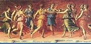 The Muses dancing with Apollo, by Baldassare Peruzzi