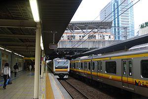 Musashi-Kosugi Station - The Nambu Line platforms in November 2015