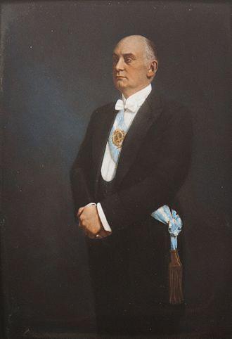 Marcelo Torcuato de Alvear - Marcelo de Alvear's official portrait, 1922.