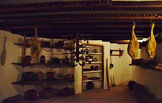 Pantry - Nineteenth century pantry in Museu Romàntic Can Papiol in Vilanova i la Geltrú