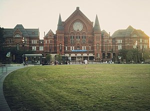 Cincinnati Music Hall - A view of Music Hall from Washington Park in Cincinnati, Ohio