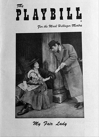 My Fair Lady - Program from Mark Hellinger Theatre