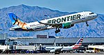 "N233FR Frontier Airlines Airbus A320-214 s n 7095 ""Buck The Pronghorn"" (28812671718).jpg"