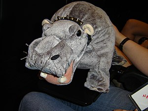 """Abby Sciuto - """"Bert"""", Abby's stuffed hippo that often provides being a running gag by farting when squeezed"""