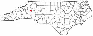 Sawmills, North Carolina - Image: NC Map doton Sawmills