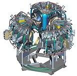 CAD drawing of NCSX