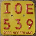 NETHERLANDS 2000 -MOPED-SCOOTER PLATE - Flickr - woody1778a.jpg