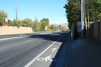 Nevada State Route 659 - Looking east on SR 659 from Pyramid Way (SR 445)