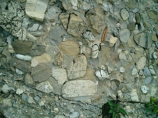 Molasse A type of sedimentary rock deposit associated with the formation of mountain chains.
