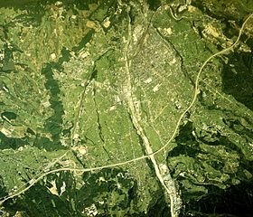 Nakatsugawa city center area Aerial photograph.1976.jpg