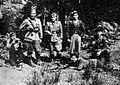 Namestnik komisarja glavnega štaba Viktor Avbelj-Rudi in prvi komandant Vojkove brigade Milan Tominec 5. septembra 1943 na Žirovskem vrhu.jpg