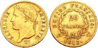 Pierre-Joseph Tiolier - Image: Napoleon I 20 Francs 94224