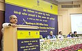 Narendra Singh Tomar addressing at the inauguration of the conference on 'Roadmap to 300 Million Tonnes Opportunities & Challenges for Secondary Steel Sector', in New Delhi. The Union Minister for Finance.jpg