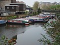 Narrowboats moored on the Regent's Canal - geograph.org.uk - 1255385.jpg