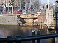 Nassauplein, Nassaukade gesprongen waterleiding kade weggeslagen foto 4.jpg
