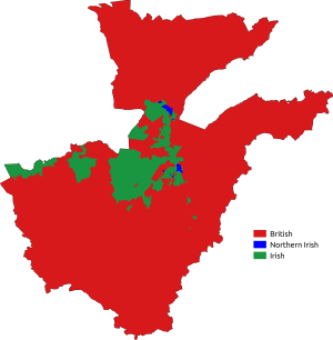Belfast Metropolitan Area - Image: National Identity Belfast Metropolitan Area 2011 Census