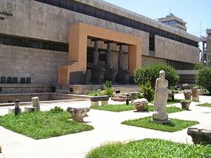 National Museum of Aleppo - The main entrance, a temple gateway from the Iron Age Neo-Hittite settlement of Tell Halaf