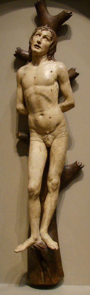 Matteo Civitali - Image: National gallery in washington d.c., matteo civitali, san sebastiano, terracotta, 1492 circa