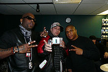 Naughty by Nature members Treach (left) and Vin Rock (right) in 2009