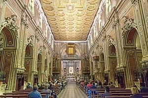 Santa Maria del Carmine, Naples - Image: Navata Carmine Maggiore